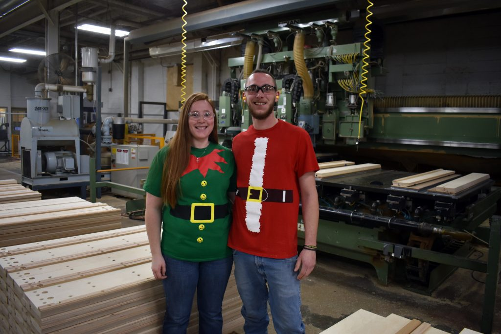 Employees Dressed up for Holiday