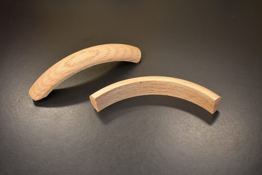 Curved wood component
