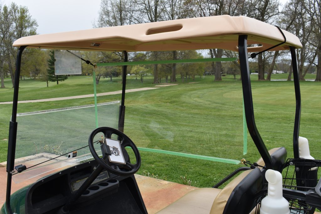 Golf Cart Shield with Tape
