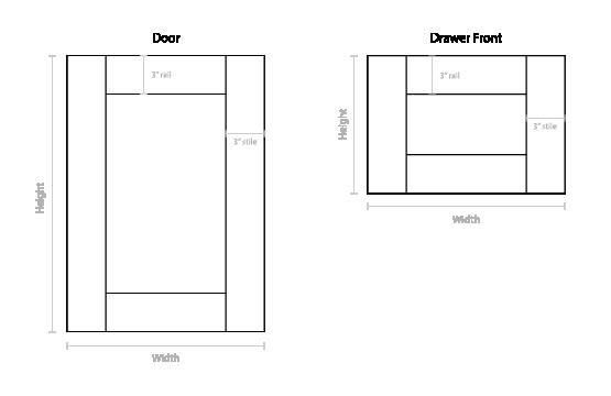 Shaker Door Diagram